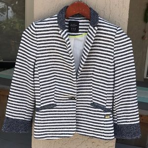 Zara Trafaluc Collection, stripped blazer.